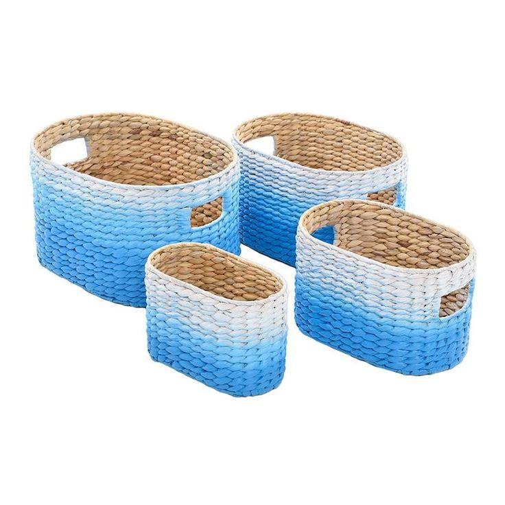 Комплект от 4 коша в син цвят