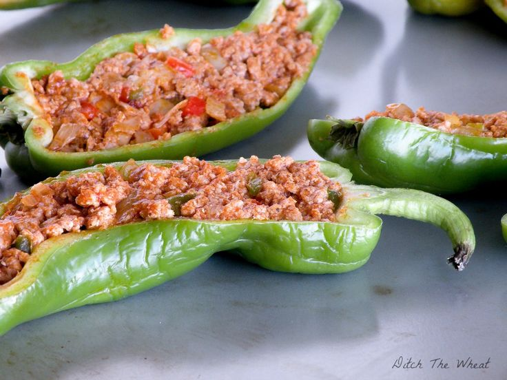 Paleo Stuffed Hot Peppers Shared on https://www.facebook.com/LowCarbZen