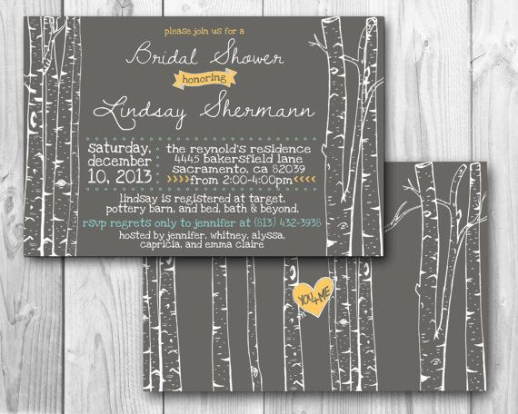 Birch trees -- can get with a different accent color (red)... could be cute. Obviously this is for wedding but said can do baby shower easily.