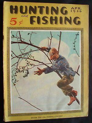 Hunting and fishing magazine april 1936 ebay hunting for Hunting and fishing magazine