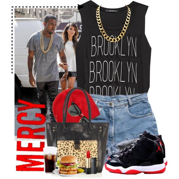 Kanye West and Jordan shoes by nensy on Polyvore featuring Forever 21, Oasis, Scotch & Soda, Ray-Ban and Lancôme