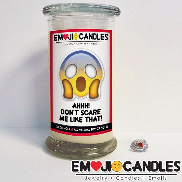 Ahh! Don't Scare Me Like That! - Emoji Candles - The Official Website of Jewelry Candles - Find Jewelry In Candles!