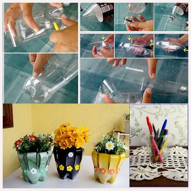 plastik şişelerden çiçeklik nasıl yapılır, plastik siselerden ciceklik yapimi, plastik şişelerden çiçeklik yapımı,