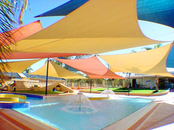 I don't need to cover the whole yard but I like all the colors.    New Coolaroo Shade Sails for your yard! « Westwood Gardens Blog