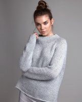 Модный свитер оверсайз спицами. О.п.