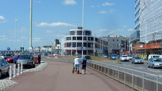 Hastings seafront near Pelham Place