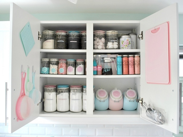 Organized Baking Cupboard Home Kitchen Pinterest