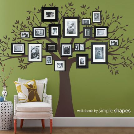 Family Tree Wall Decal from simple shapes, Gotta do this or the other one that me  and my cousin both Love.. Ugh i can never decide..lol