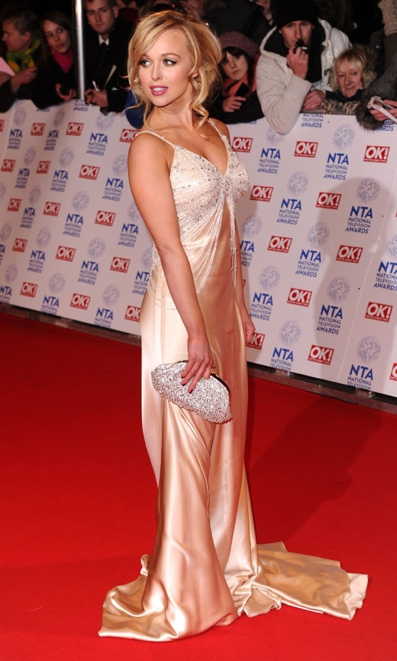This dress is way too LONG get a taylor next time love! Porter At The National Television Awards, 2013 | Look
