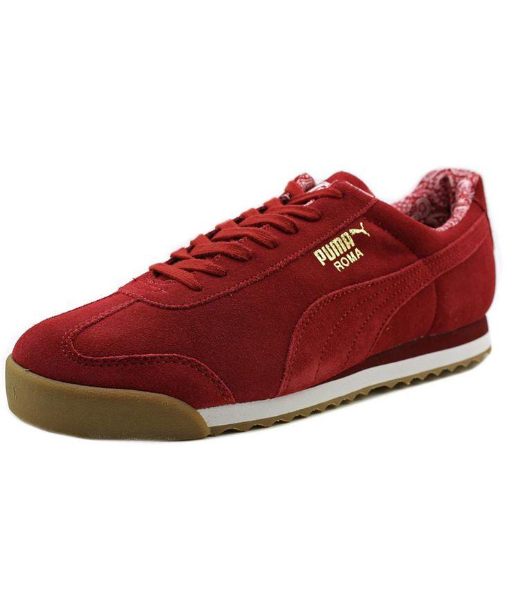 PUMA PUMA ROMA BASIC   ROUND TOE SUEDE  WALKING SHOE'. #puma #shoes #sneakers