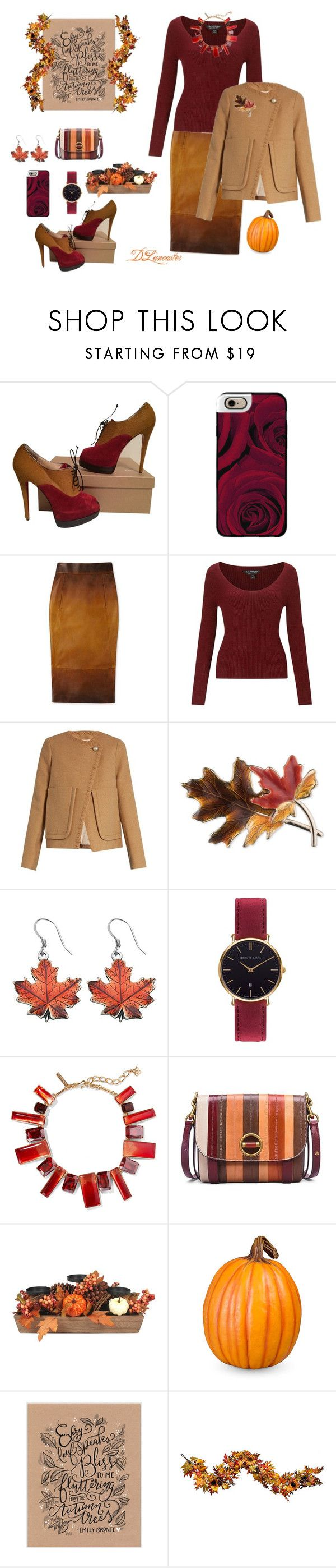 """Pumpkins, pumpkins, everywhere!!"" by diane-711 ❤ liked on Polyvore featuring Christian Louboutin, Casetify, Miss Selfridge, See by Chloé, Anne Klein, Abbott Lyon, Oscar de la Renta, Tory Burch and Improvements"