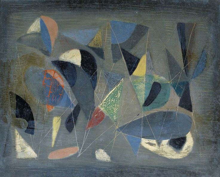 "thunderstruck9: "" Nicolas de Staël (French, born Russia, 1914-1955), Composition, 1942. Oil on canvas, 37 × 45 cm. """