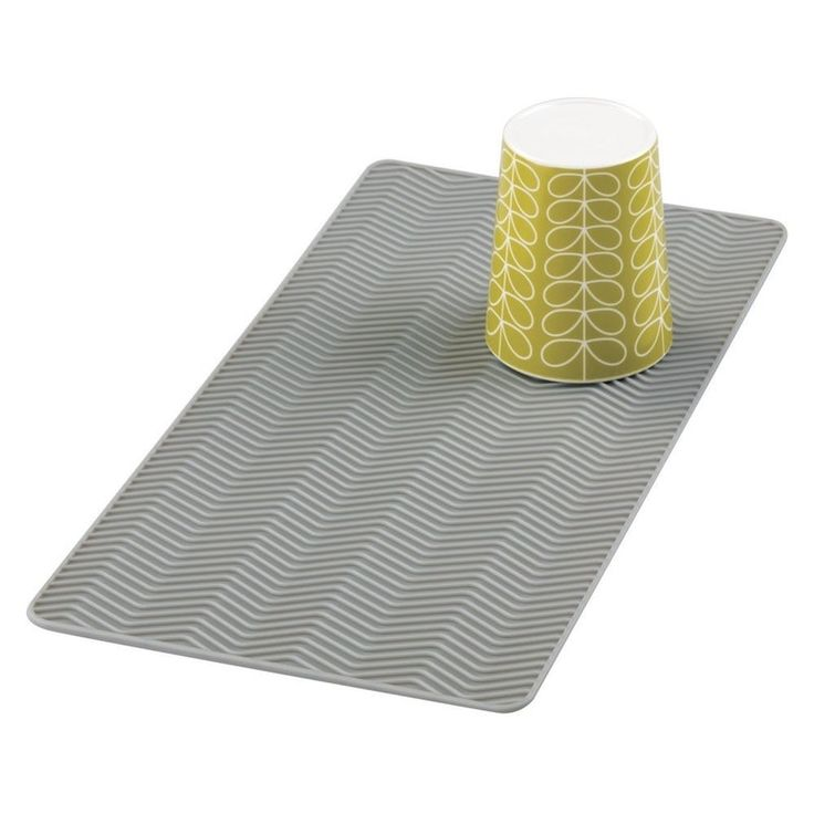 mDesign Silicone Chevron Dish Drying Mat, $9, Amazon    Drying mats get gross easily, but this silicone dish drying mat is built to last and be easy to clean. It features a unique ribbing detail which promotes airflow and helps items dry faster than a cotton mat or open rack would. Because this mat is made from durable, heat-resistant silicone, it's also safe to run through the dishwasher and can be a great way to set plates, bowls, cups, and utensils out to dry.