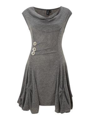 Izabel London Cut  Sew Dress Charcoal - House of Fraser