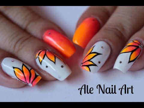 NAIL ART ESTIVA SUPERFLUO! | Ale Nail Art - YouTube