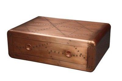 Miedziany stolik do salonu? Szuflada, 1589 zl na allegro.
