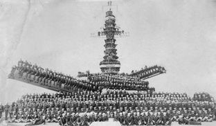 World War I in Photos: The War at Sea - The Atlantic sailors on either USS Pennsylvania or Arizona 1918