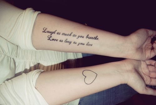 love as long as you live tattoo The Feminine Inking   Tattoo for Girls
