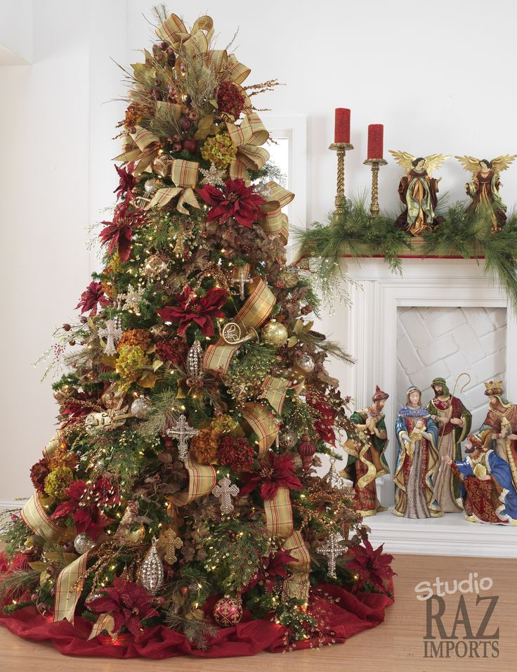 60 Gorgeously Decorated Christmas Trees From RAZ Imports — Style Estate