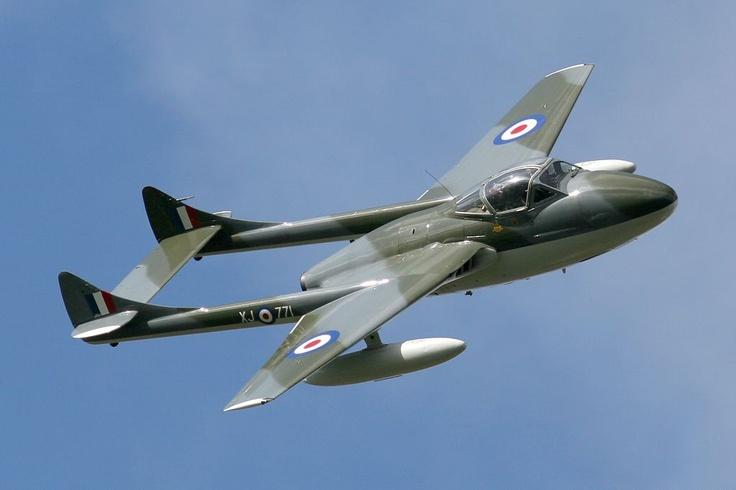 vampire aircraft | De Havilland Vampire, British, Fighter, Jet, Royal Air Force