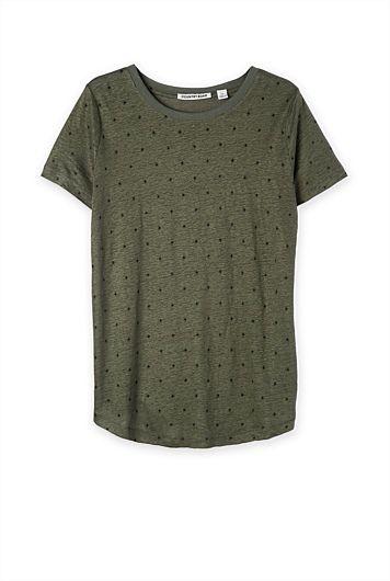 Country Road - Dobby Print T-Shirt