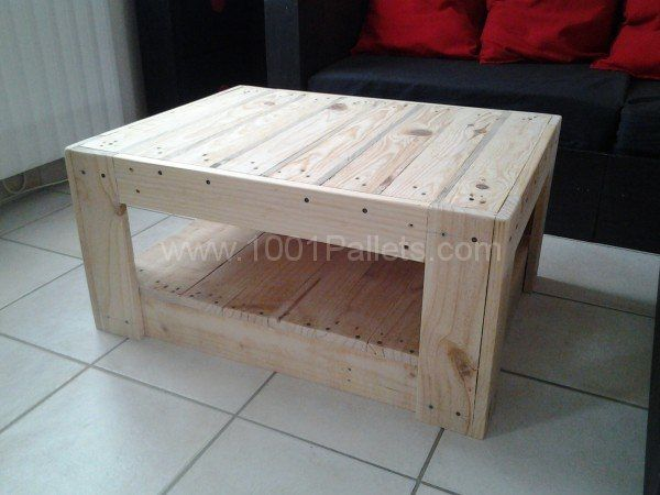 1000 ideas about table basse en palette on pinterest - Table basse palette blanche ...