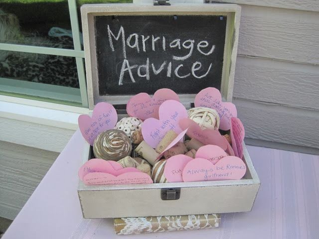 Marriage advice box.- looking back I should have had one of these it would come in handy lol