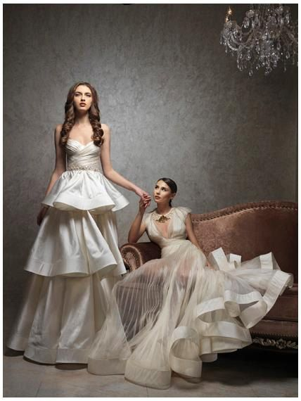 Modern wedding dress by princessmemaria on Etsy