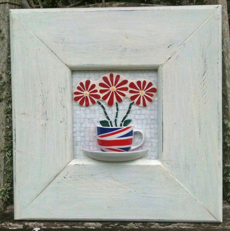 English Tea Cup by Nikki Murray- Mason, Nikki Inc Mosaics (www.nikkiinc.com)
