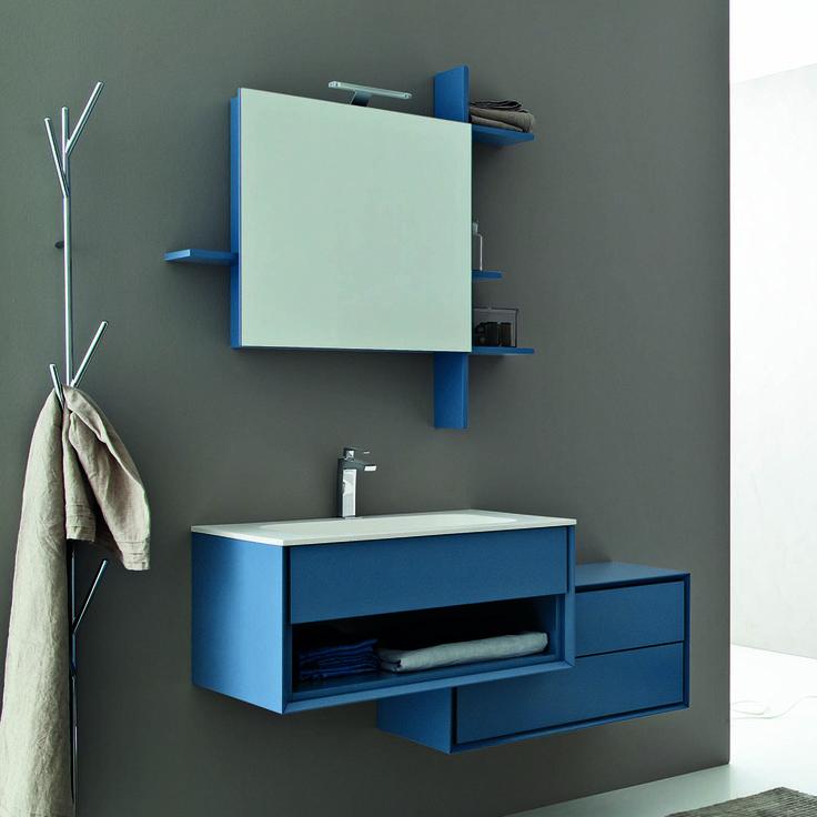 Composizione mobili da bagno sospesi moderni novello - Mobili sospesi per bagno ...
