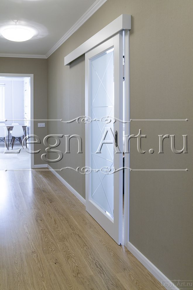 Проект арт-студии ЛегнАрт - Межкомнатные белые двери - г.Москва ул.Привольная