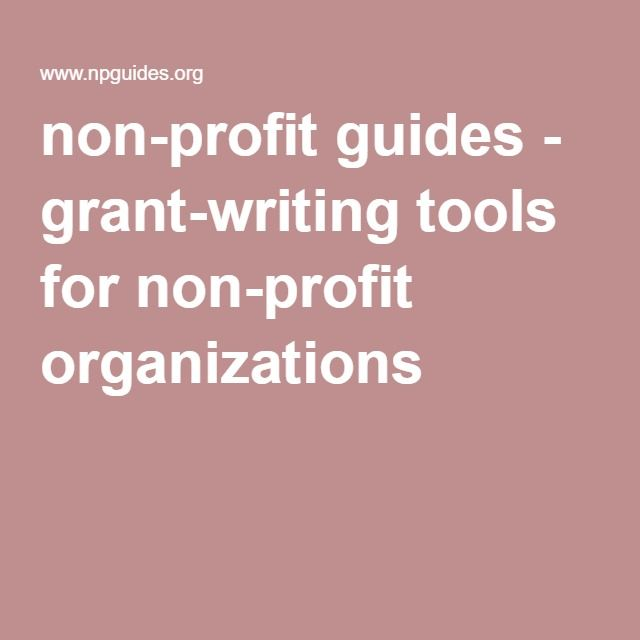 Grant writing nonprofit organizations