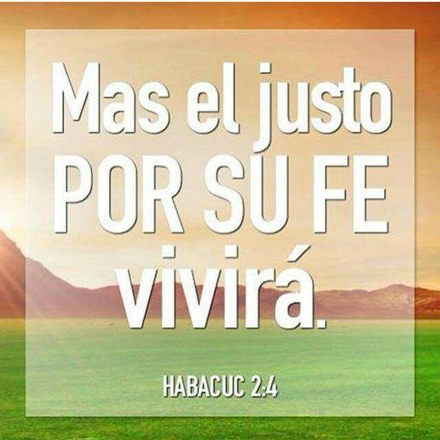 Habacuc 2:4 He aquí que aquel cuya alma no es recta, se enorgullece; mas el justo por su fe vivirá.♔