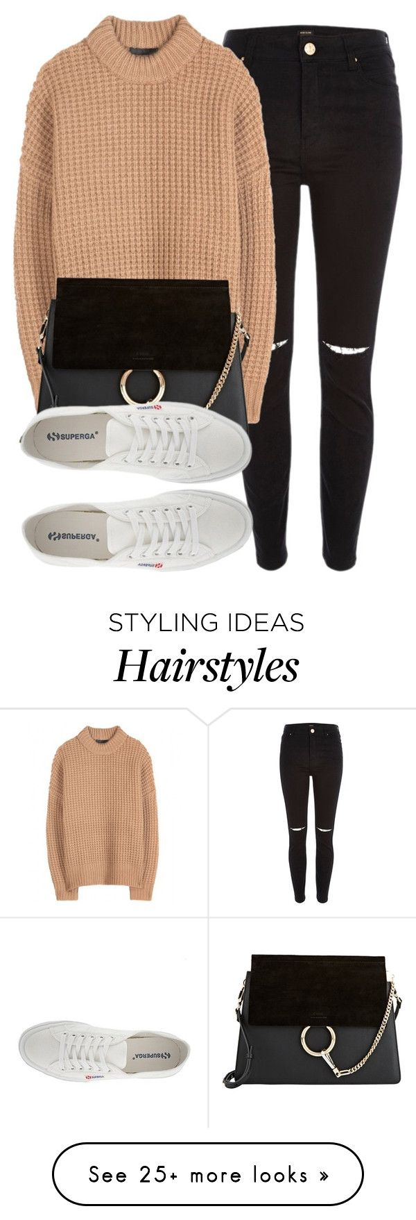 """""""Untitled #4852"""" by laurenmboot on Polyvore featuring River Island, The Row, Chloé and Superga"""
