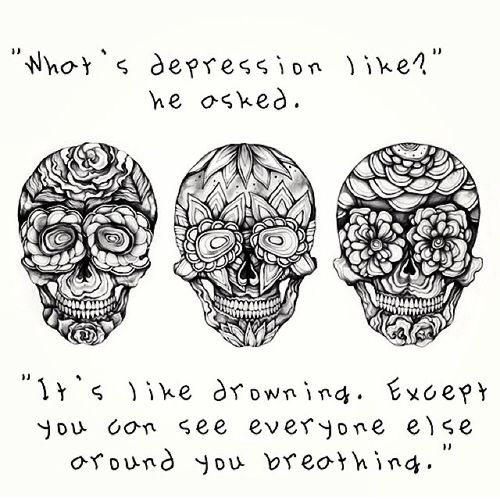 Overcoming Depression Tattoo: 294 Best Skulls Images On Pinterest