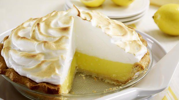 Zitronenkuchen mit einer Haube aus Baiser: Rezept