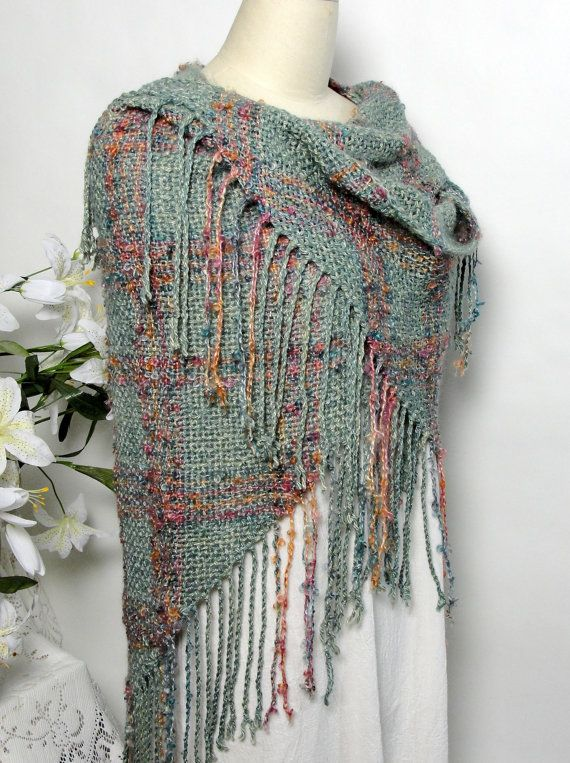 Shawl Wrap Teal Rose Copper Women Special Occasion by Shawltique
