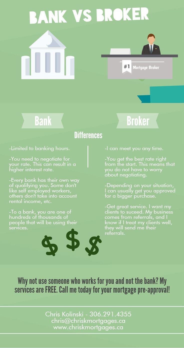Broker Vs Bank Mortgage Brokers Saskatoon Just Some Of The Differences When U Mortgage Broker Mortg Mortgage Brokers Mortgage Marketing Refinance Mortgage