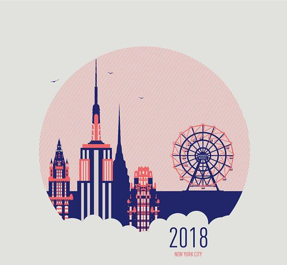 2018 Calendar New York City mmmMAR