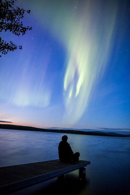 Summer Auroras in Muonio, Finland by Visit Finland, via Flickr