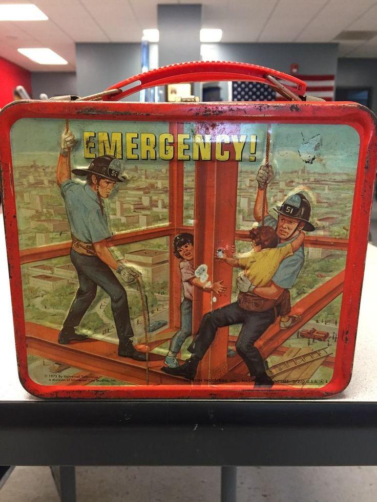 Vintage 1973 Emergency Squad 51Aladdin Lunch Box
