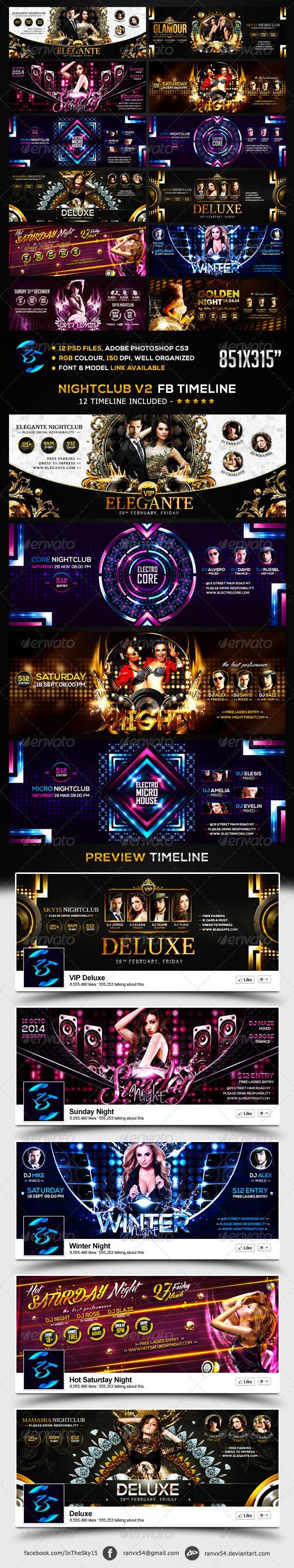 Nightclub V2 FB Timeline Cover. Download .Psd here: http://graphicriver.net/item/nightclub-v2-fb-timeline-cover/6868823 #nightclub #luxury #glamour #deluxe #winter #vip #golden #sensation #electro #techno #dubstep