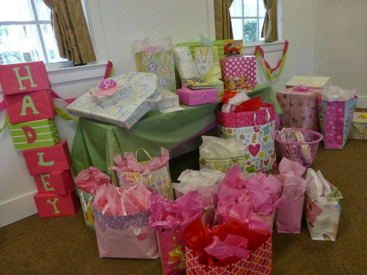 Letter boxes: Cute baby shower ideas