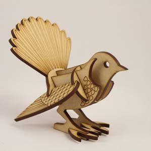 Wooden Kitset Model - NZ Birds - Various FANTAIL