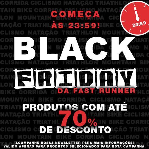 ★ A #BlackFriday da Fast Runner está IMPERDÍVEL! Acesse nosso site a partir das 23:59hs de hoje e aproveite as melhores ofertas da história. São mais de 1.500 produtos com até 70% OFF.  Você vai se surpreender. Acesse: http://www.fastrunner.com.br/.