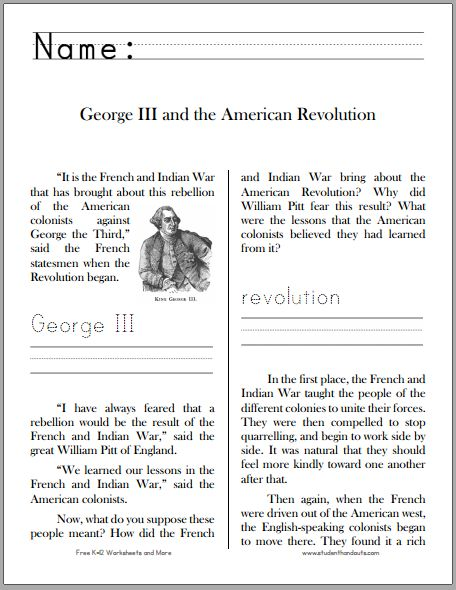 Unforgettable image within american revolution printable worksheets