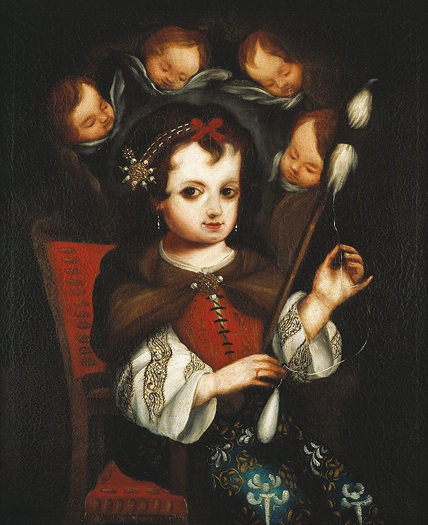 Virgin Mary Spinning, Spain or Peru, about 1700.    Spanish Colonial Art | Denver Art Museum