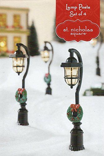 Light Up Holiday Lamp Posts SNS Gazette Christmas Village Accessory - Set of 4 St. Nicholas Square http://www.amazon.com/dp/B00PO8WWVI/ref=cm_sw_r_pi_dp_.3ENub0P3YTZ7