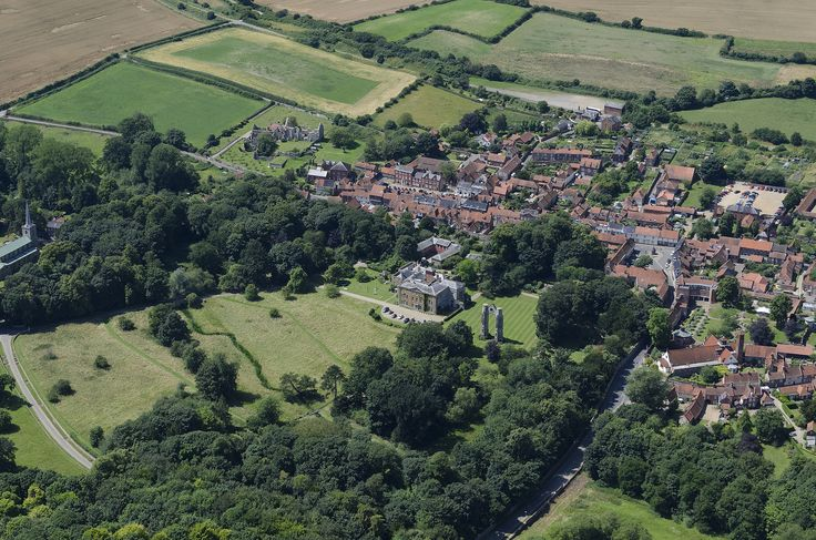 Pretty hilly for Norfolk - Little Walsingham from the air | by John D F