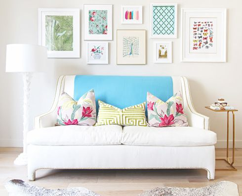 MadeByGirl: Thank You: Bek Design, Decor, Living Rooms, Colors, Interiors Design, Galleries Wall, Frames Arrangements, Studios Couch,  Day Beds